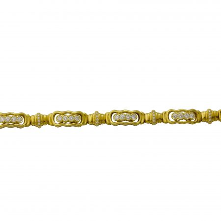 Flowing Lines Gold and Diamond Bracelet