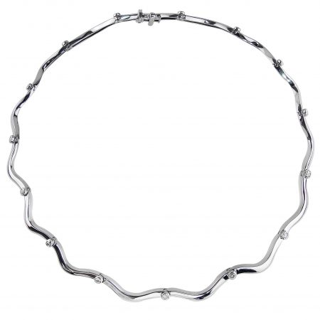 Flowing Lines Diamond Necklace