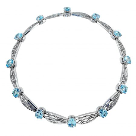 Blue Topaz Dragonfly Necklace