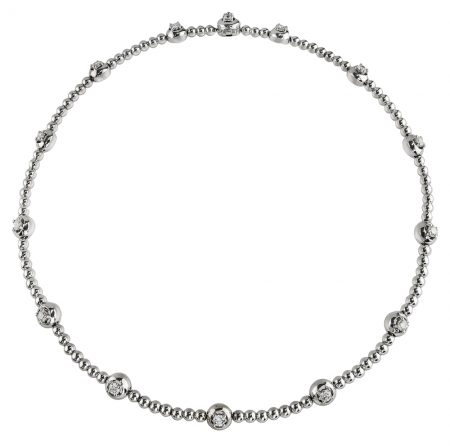 Diamond and Bead Necklace