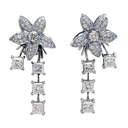 Single Jasmin Diamond Drop Earrings