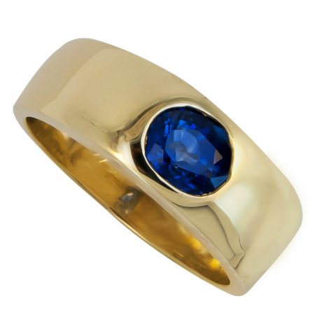 Men's Sapphire and Gold Ring
