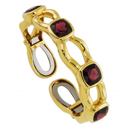 Tzarina Rhodolite Bangle Bracelet
