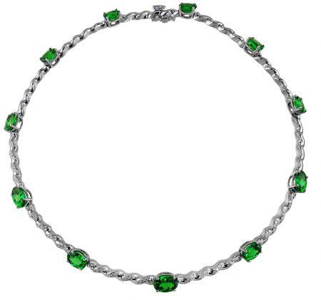 Tsavorite and Diamond Necklace at Kaufmann de Suisse Jewelers