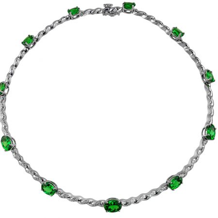 Tsavorite and Diamond Necklace at Kaufmann de Suisse Jewelers