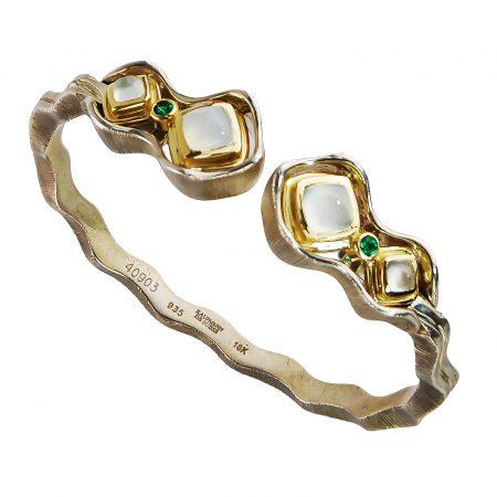 Jardins de la Mer Blue Chalcedony Cuff Bracelet