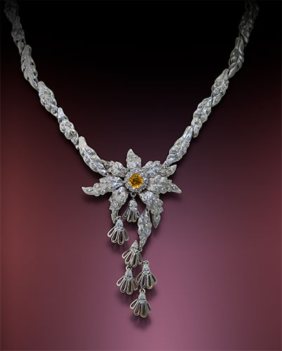 Diamond Necklace at Kaufmann de Suisse Jewelers