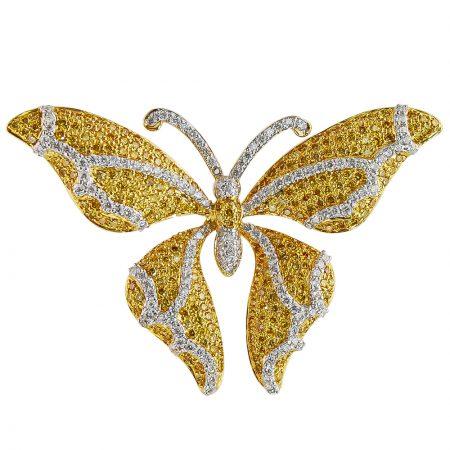 18K Butterfly Broach