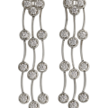 Triple Cascade Diamond Earrings