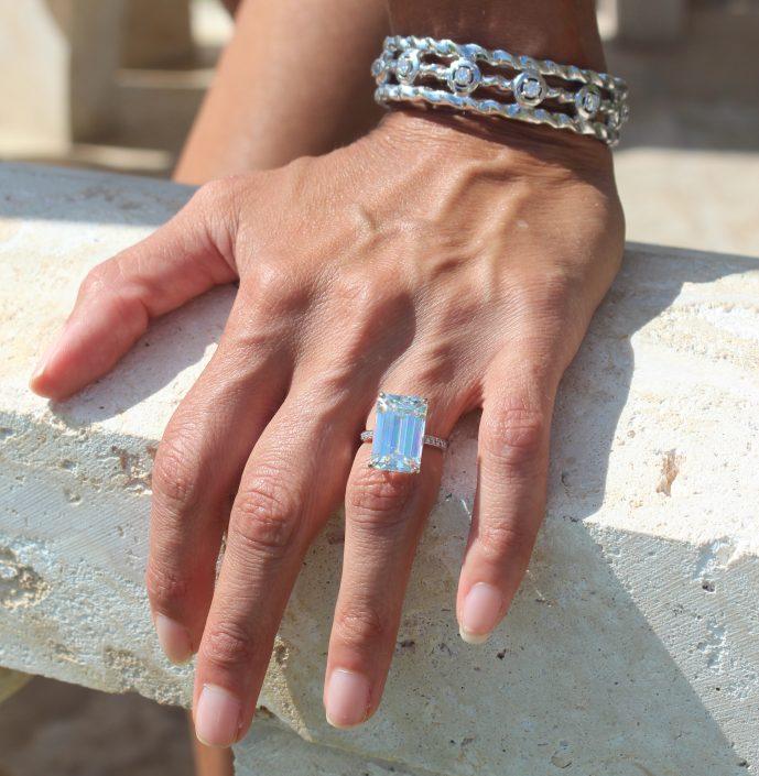 Diamond ring and bracele