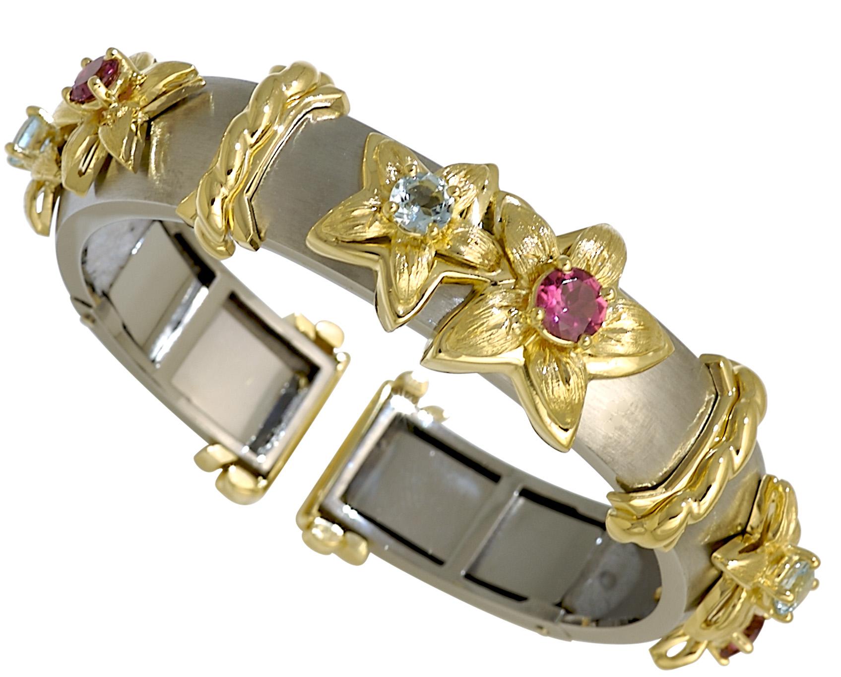 Jasmine de Nuit Gemstone Bangle Bracelet