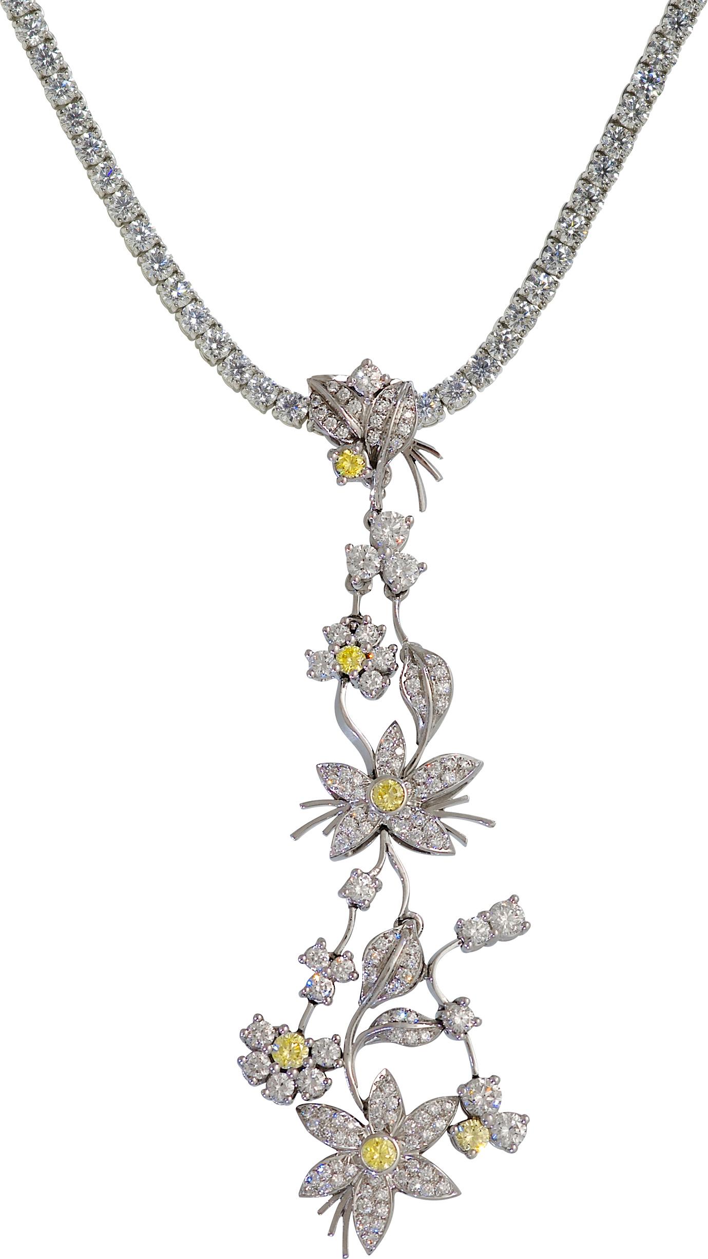 Jasmine de Nuit Yellow Sapphire & Diamond Drop Earrrings