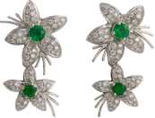 Emerald and Diamond Earrings from the Jasmine Collection