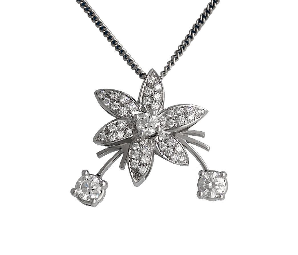 Jasmin de Nuit Diamond Pendant