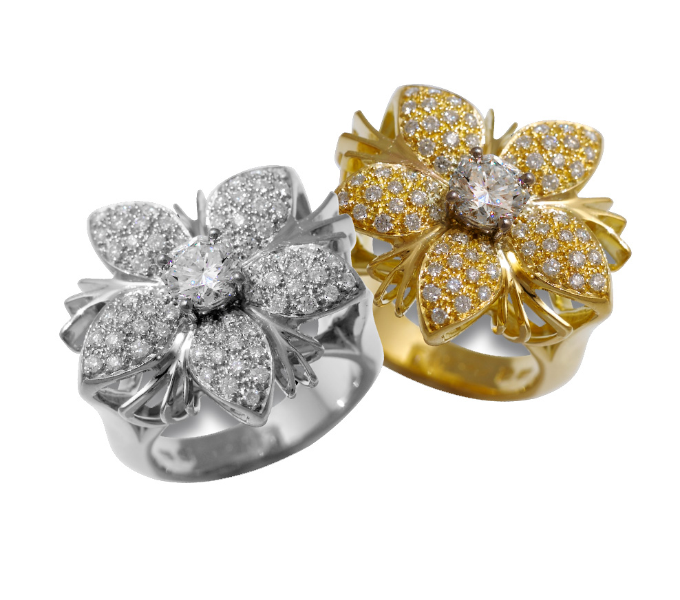 Diamond rings from the Jasmine Collection
