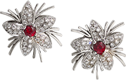 Ruby and Diamond Earrings from the Jasmine Collection at Kaufmann de Suisse Jewelers
