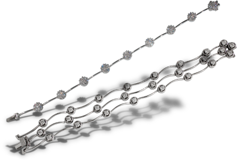 Triple Cascade Diamond Bracelet