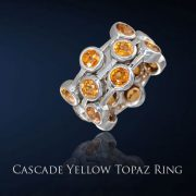 Yellow Topaz Ring from the Cascade Collection