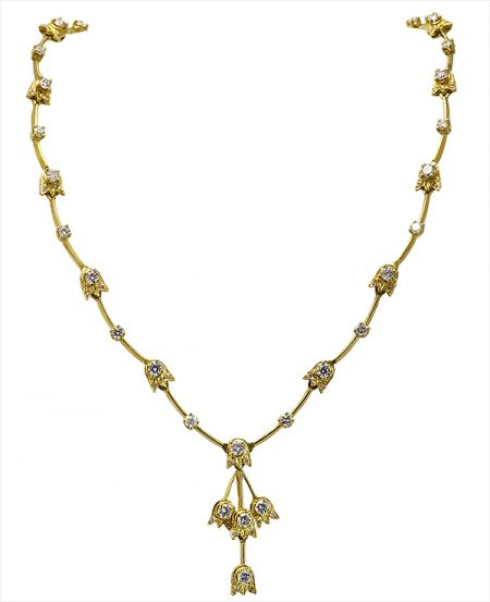Lily of the Valley: Falling Lily Necklace