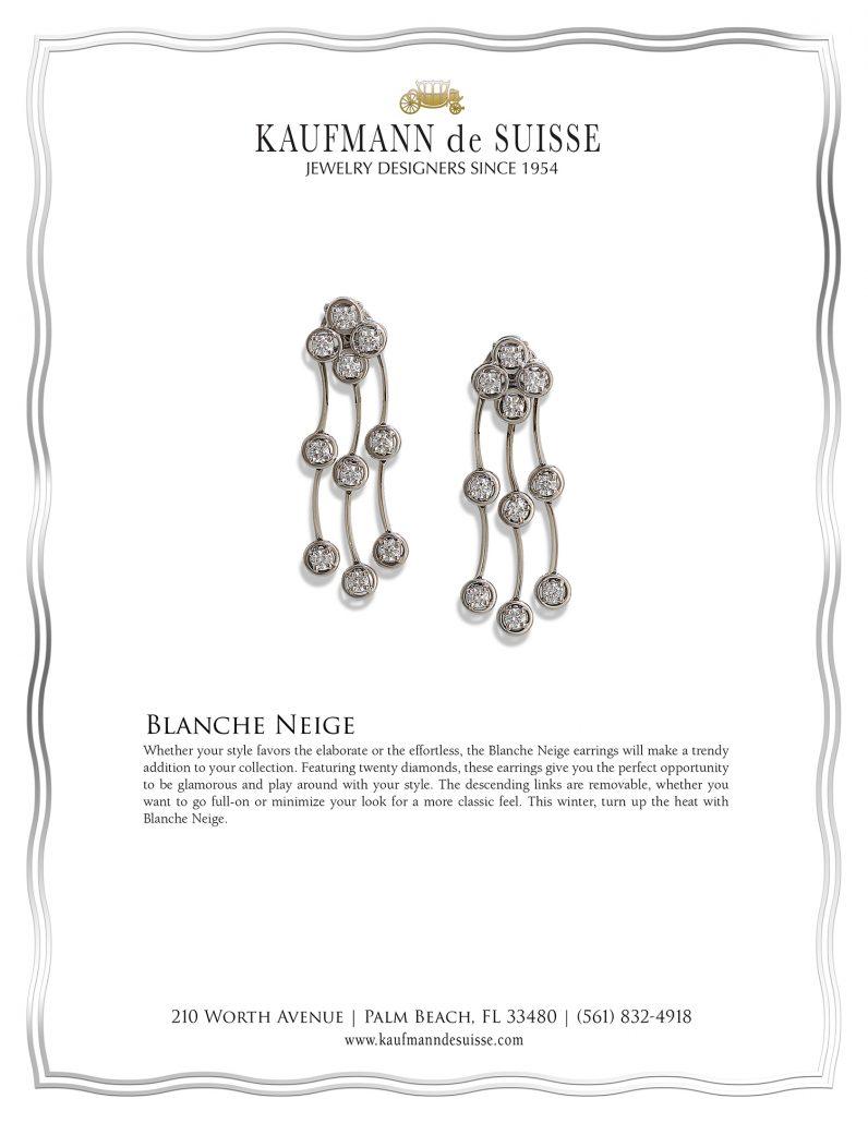 Diamond Earrings, Cascade Earrings