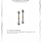 La Cometa Earrings Diamond Earrings