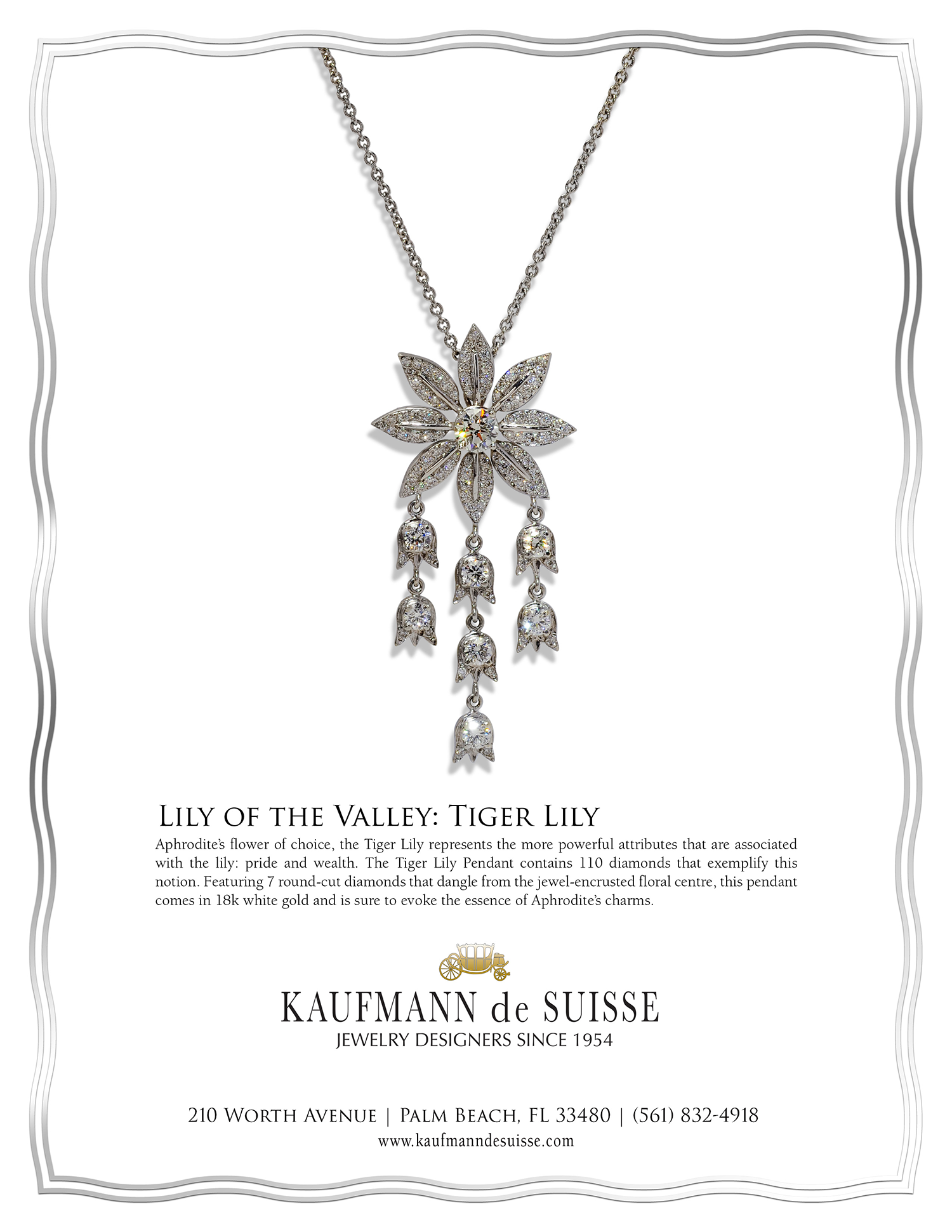 Lily of the Valley Diamond Necklace