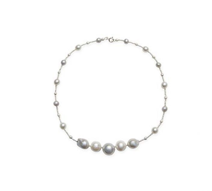 Kaufmann De Suisse Freshwater 5 in a Row Pearl Necklace