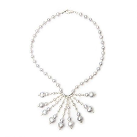 Kaufmann de Suisse Freshwater Pearl Cluster Necklace