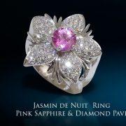 Jasmine de Nuit Pink Sapphire & Diamond Ring