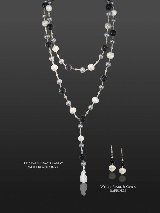 The Palm Beach Lariat in Black Onyx