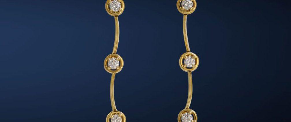 Single Cascade Diamond Earrings