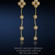 Single Cascade Diamond Earrings
