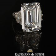 Incredible Diamond Emerald Cut Engagement Ring