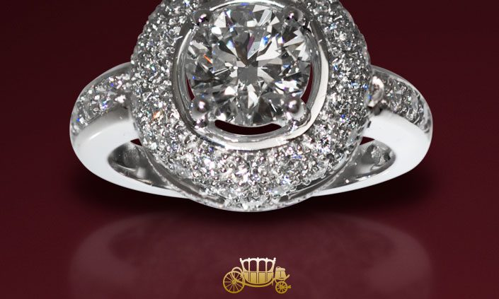 2 CTS Brillant Diamond Ring