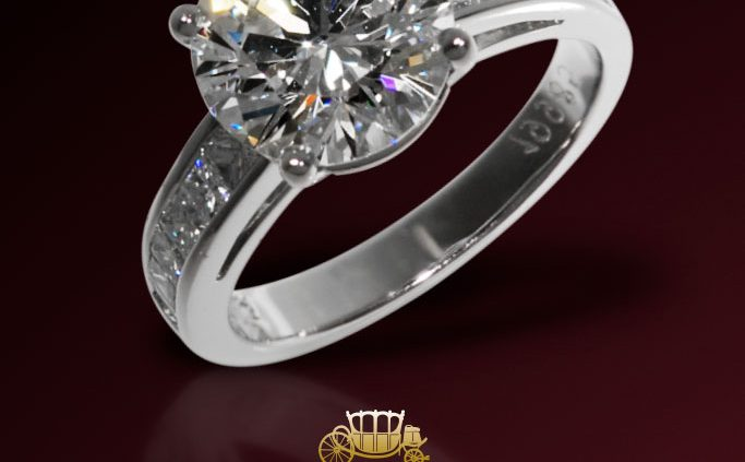 3 CTS Round Diamond Engagement Ring