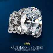 16 CTS Oval Cut Diamond Splash Ring