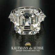 Outstanding Asscher Cut Diamond Ring