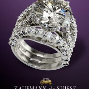 Magnificent Super Nova Diamond Engagement and Wedding Ring