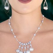 Elegant Gray Freshwater Pearl Necklace