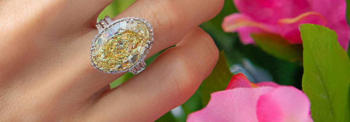 Yellow Oval Engagement Ring