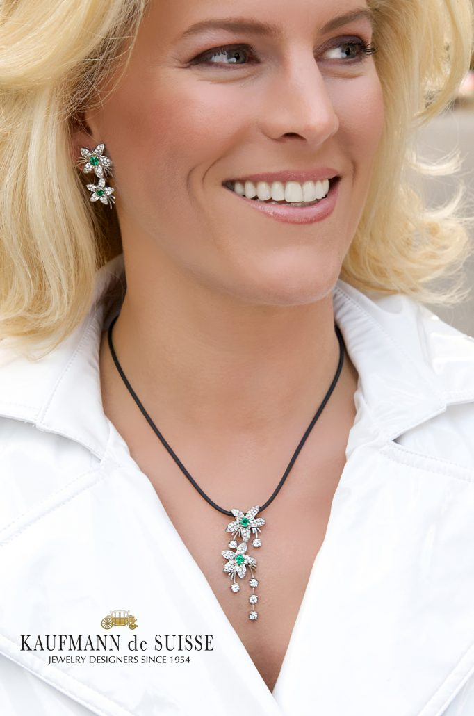 Jasmine de Nuit Emerald and Diamond Necklace