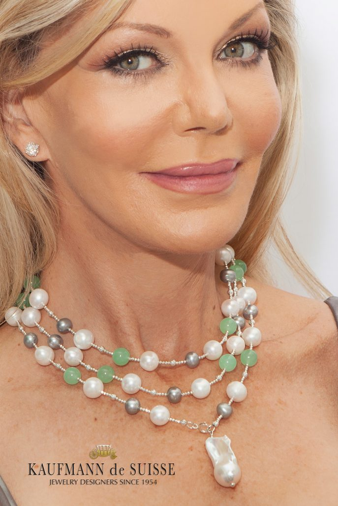 The Palm Beach Lariat in Green, White and Gray