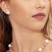 Elegant White & Gray Freshwater Pearl Necklace