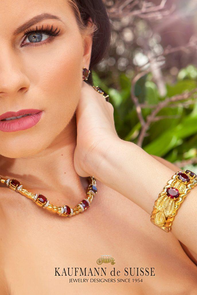 18K Gold and Garnet Jewelry