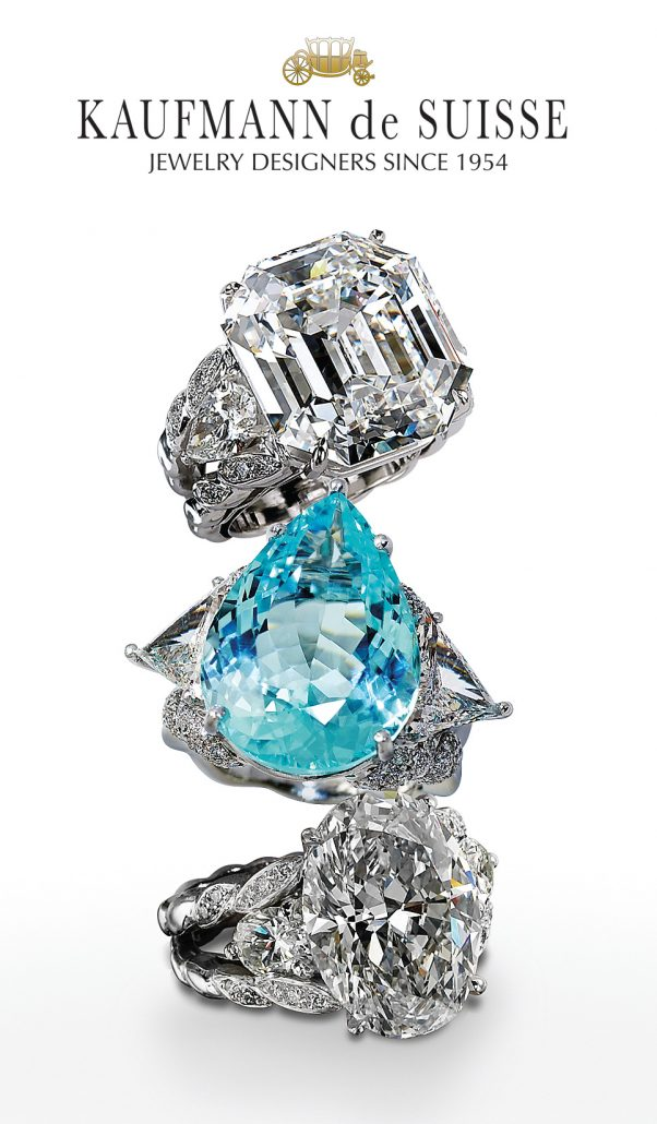 18K Diamond and Blue Topaz Rings