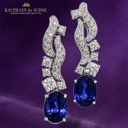 Sapphire and Diamond Earrings