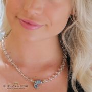The Follia Necklace in Argentum, Blue Topaz and Rock Crystal