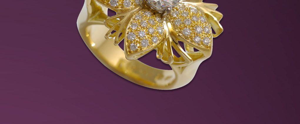 Jasmine de Nuit Ring in 18K Gold