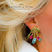18K Flowing Lines Bouquet Earrings