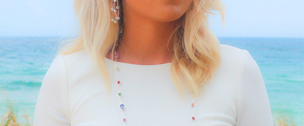18K Triple Cascade Earrings